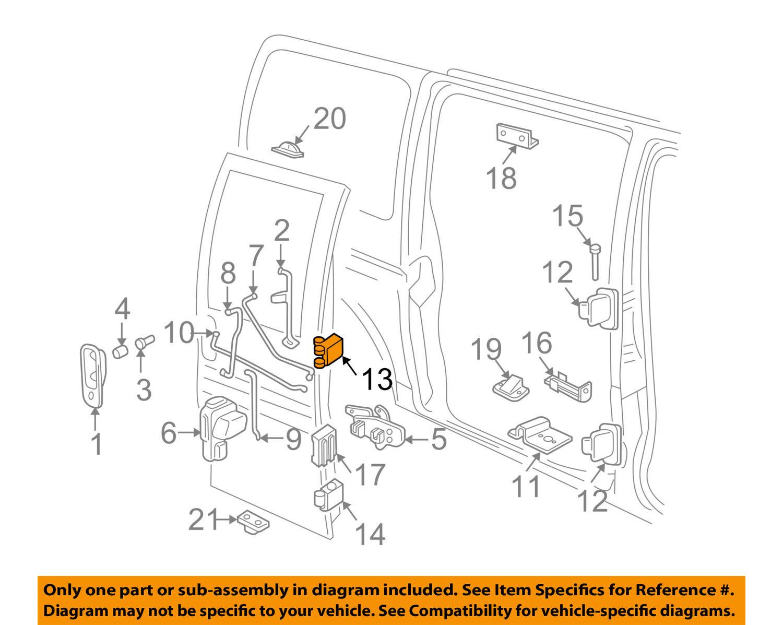 Gm 19210561 Genuine Oem Express Savana 1500 2500 3500 Door Hinge Kit