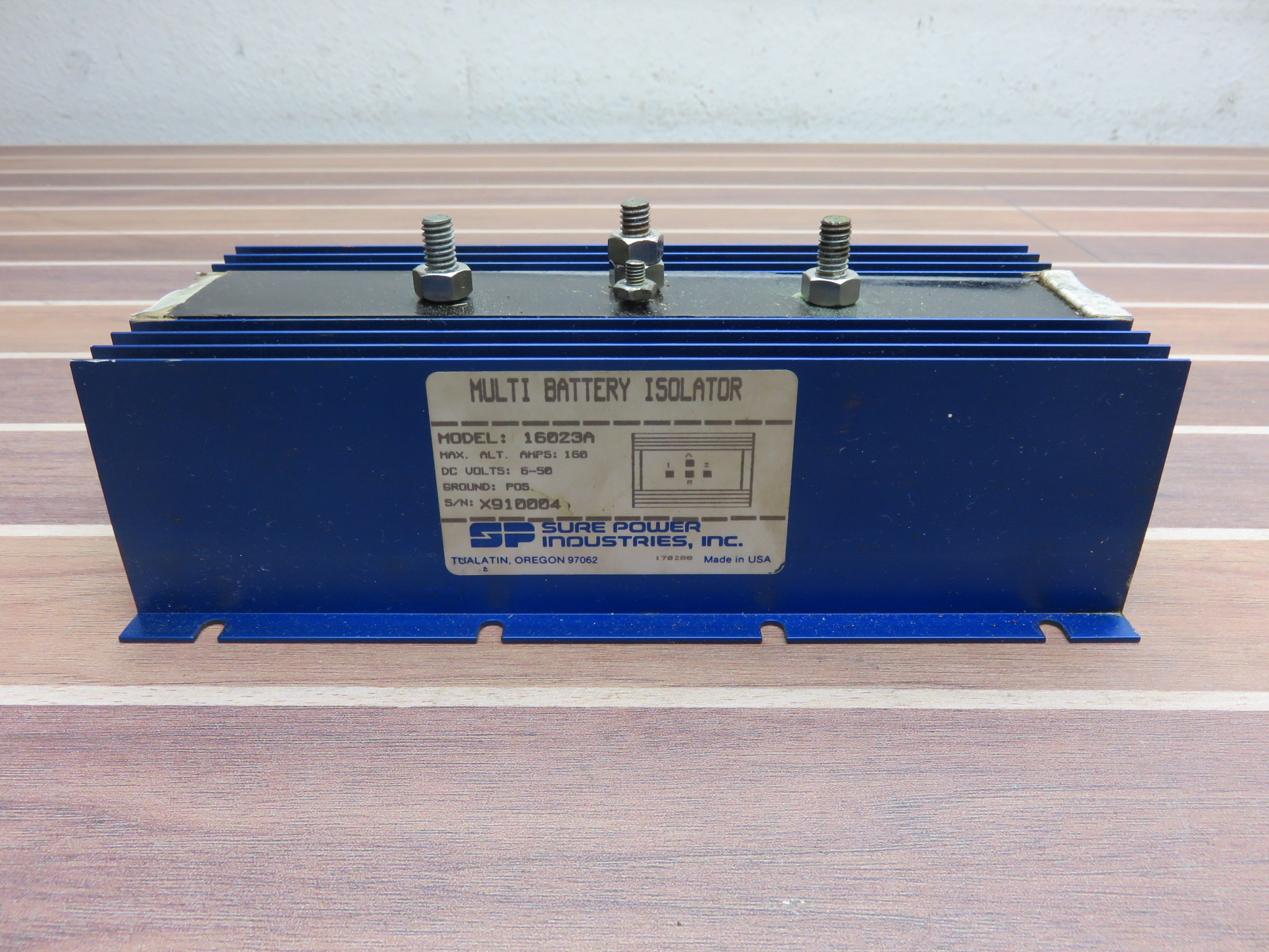 Dual Battery Isolator Sure Power Industries Inc 160Amp Negative Ground MARINE