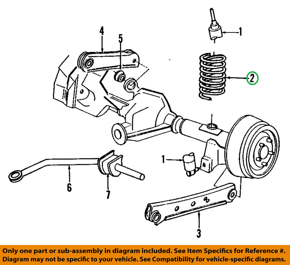 Details about Ford 3W7Z-5560-AA Genuine OEM 03-04 Crown Victoria Rear  Suspension Coil Spring