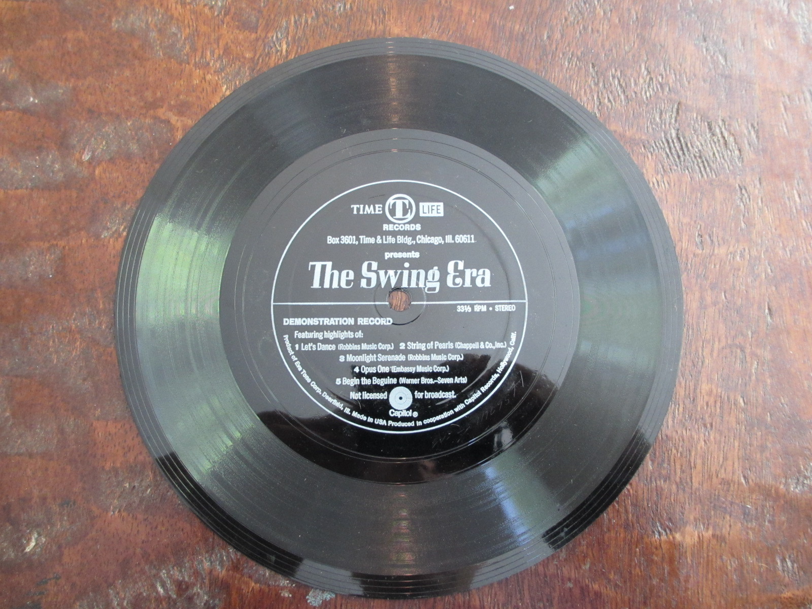 Details about Various Artists The Swing Era Time Life Capitol Records Vinyl  Record 33 1/3 RPM