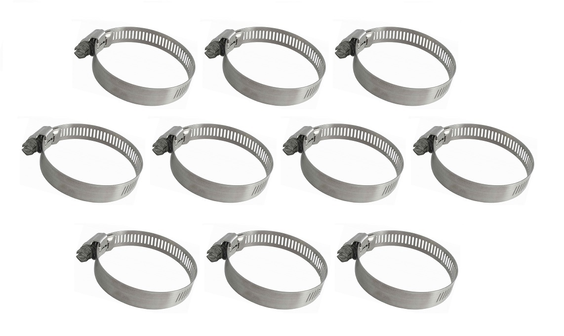 "5//8/"" Hose Clamp Lot of 10 IDEAL Tridon 359-004 Micro-Gear Stainless Steel 1//4/"""