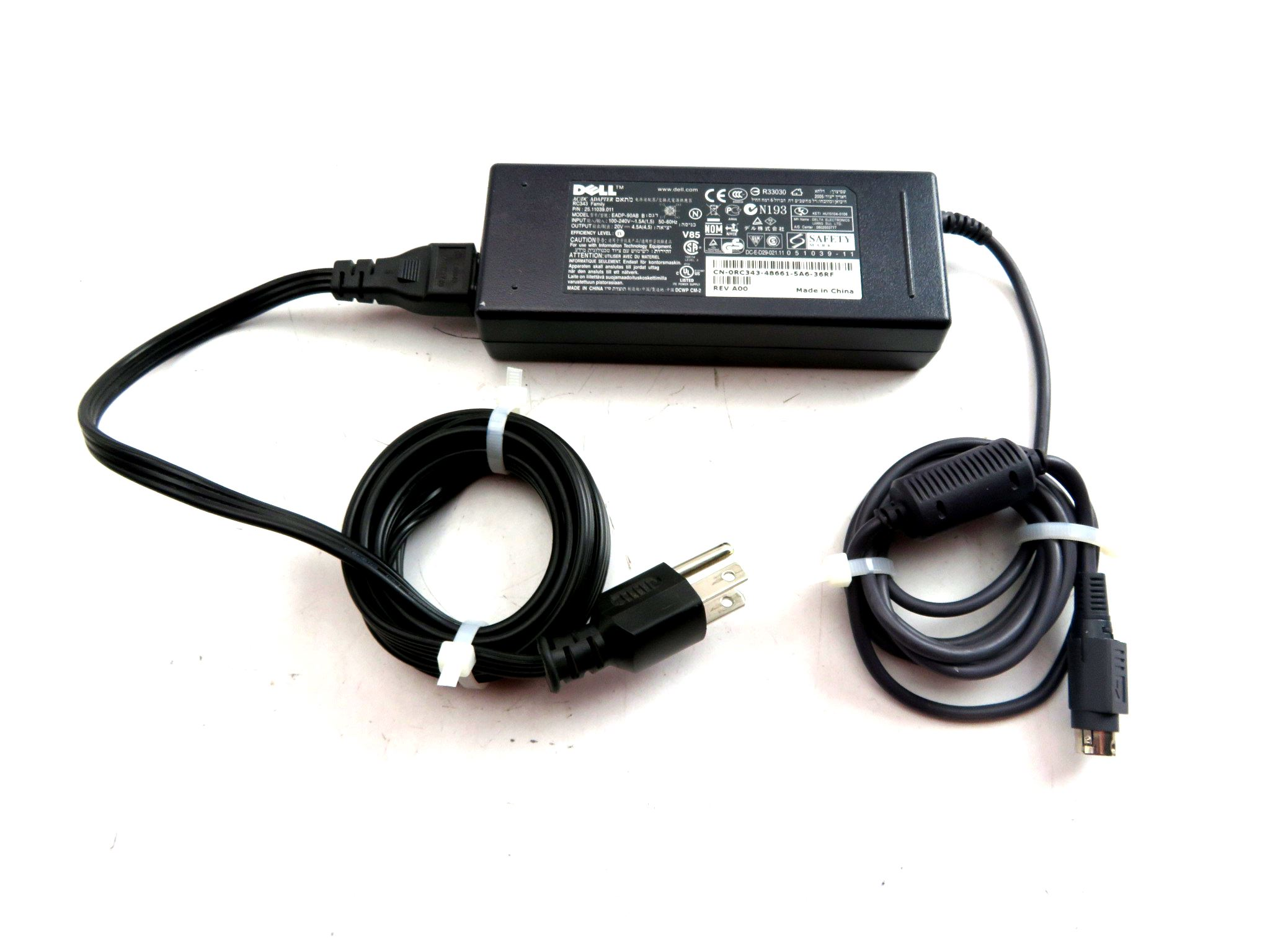 4-Pin 20V AC Adapter For DELL EADP-90AB B 25.11039.011 RC343 Family Power Supply
